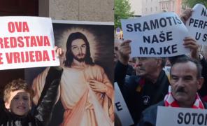 Demonstracje w chorwackim teatrze! Na scenie Jezus gwałcił półnagą kobietę w hidżabie