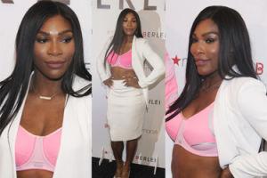 Serena Williams pozuje w różowym staniku. Seksowna? (ZDJĘCIA)