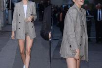 Kendall Jenner chwali się chudymi nogami w Paryżu