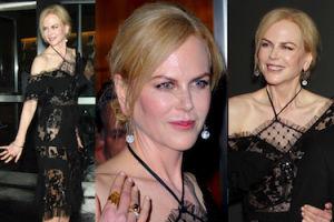 """49-letnia Nicole Kidman w """"naked dress"""" w Nowym Jorku (ZDJĘCIA)"""
