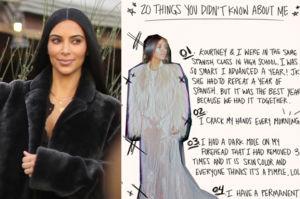 """Kim zdradza """"20 dziwnych faktów"""" na swój temat! """"Wiedziałam, że z Kanye jesteśmy sobie przeznaczeni"""""""