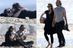 Bradley i ciężarna Irina przytulają się na plaży! (ZDJĘCIA)