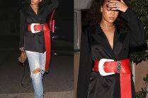 Rihanna z czerwonym paskiem za ponad 3 tysiące złotych