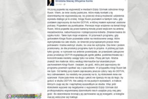 """Wróżbita Maciej ostro o Rusin: """"Zmanierowana do szpiku kości"""""""