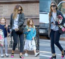 Sarah Jessica Parker odprowadza córki do szkoły