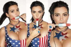 """Kim Kardashian w """"patriotycznej"""" sesji na 4 lipca (ZDJĘCIA)"""