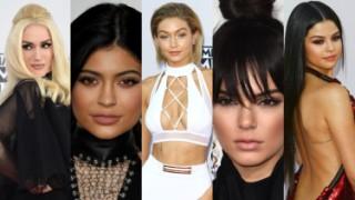 Siostry Jenner, Gigi Hadid i Selena Gomez na gali AMA (DUŻO ZDJĘĆ)