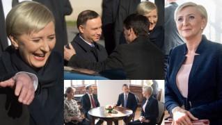 Roześmiana Agata Duda na spotkaniu z węgierską parą prezydencką (ZDJĘCIA)