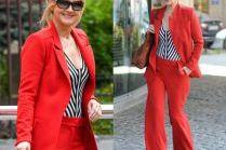 #TRENDY: Grażyna Torbicka w czerwonym garniturze