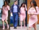 Iwona Węgrowska w różowej sukience wychodzi ze szpitala (ZDJĘCIA)