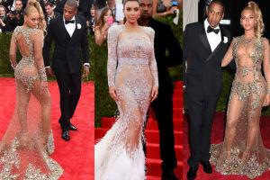 Beyonce i Kardashian w prześwitujących kreacjach! (ZDJĘCIA)