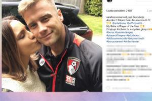Sara Boruc daje buziaka mężowi