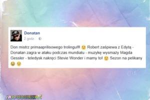 Donatan wkręcił fanów w piosenkę Górniak i Lewandowskiego