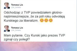 Tomasz Lis skomentował odwołanie Kurskiego