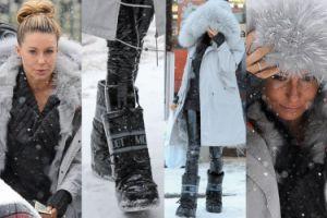Gosia Rozenek w kurtce za 30 tysięcy walczy ze śniegiem (ZDJĘCIA)
