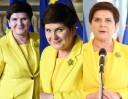 """Żółta garsonka Beaty Szydło na szczycie UE to modowa wpadka? """"We Włoszech to kolor przypisany KURTYZANOM"""""""