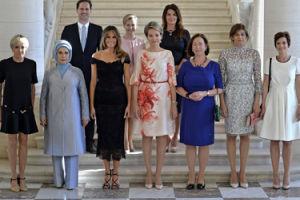 Mąż premiera Luksemburga wśród Pierwszych Dam liderów NATO (ZDJĘCIA)