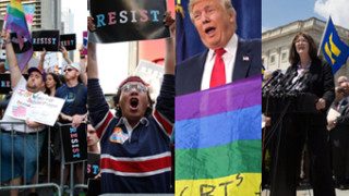 Amerykanie protestują przeciwko wyrzuceniu przez Trumpa transseksualistów z armii! (ZDJĘCIA)