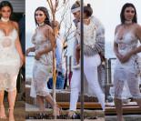 Kim i Khloe całe na biało na imprezie urodzinowej (ZDJĘCIA)