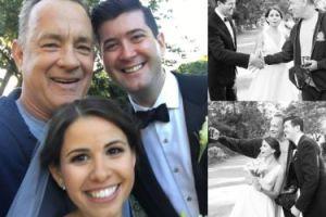 """Tom Hanks """"zepsuł"""" ich ślubne fotki"""