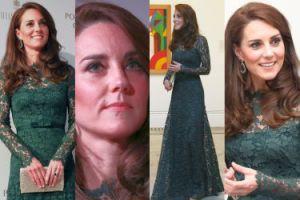 Księżna Kate w zielonych koronkach za 12 tysięcy (ZDJĘCIA)