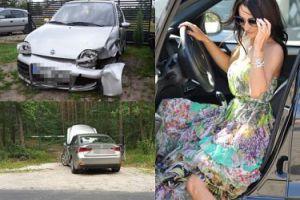 Justyna Steczkowska miała wypadek! Jej lexus zajechał drogę fiatowi Seicento! (ZDJĘCIA)