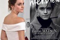 """Emma Watson na okładce """"Interview"""""""