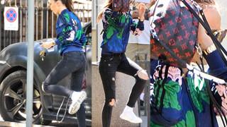 Marina parkuje na zakazie i zasłania się plecakiem za 7000 złotych (ZDJĘCIA)