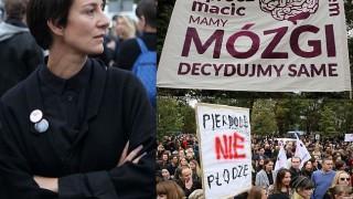 """Protest przeciwko zaostrzeniu ustawy aborcyjnej: """"OPRÓCZ MACIC MAMY MÓZGI!"""" (ZDJĘCIA)"""