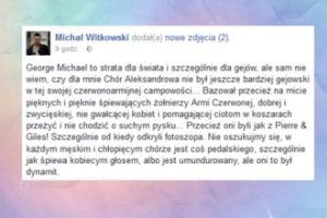 """Witkowski: """"W każdym męskim i chłopięcym chórze jest coś pedalskiego"""""""