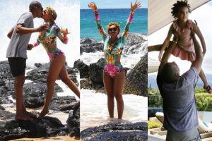 Beyonce całuje się z mężem na Hawajach! (ZDJĘCIA)