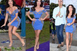Biust Steczkowskiej w niebiesko-złotej sukience (ZDJĘCIA)