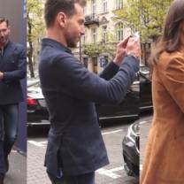 Rusin i Kraśko pod TVN-em pozują do zdjęć z fanami