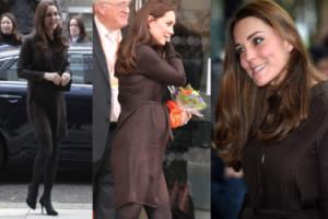 Ciężarna Kate Middleton w sukience za... 300 złotych! (ZDJĘCIA)