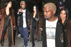 """Utleniony Kanye i Kim w futrze na """"pokazowej"""" randce! (ZDJĘCIA)"""