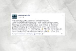 """Natalia Kukulska w """"Tańcu z gwiazdami""""? """"To kompletna bzdura"""""""