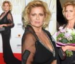 60-letnia Ewa Kasprzyk pręży opalony biust na ściance (ZDJĘCIA)