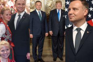 Andrzej Duda pozuje z góralami i Donaldem Trumpem (ZDJĘCIA)