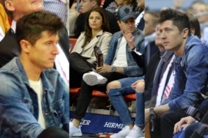 Lewandowscy poszli ze znajomymi na mecz koszykówki (ZDJĘCIA)