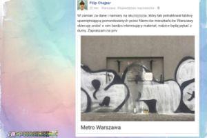 """Wściekły Chajzer poszukuje """"graficiarza"""""""