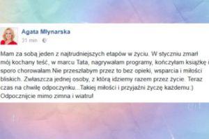 """Agata Młynarska: """"Mam za sobą jeden z najtrudniejszych etapów w życiu"""""""
