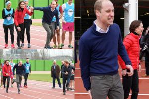 Kate, William i Harry pobiegli sprintem na 100 metrów! (ZDJĘCIA)