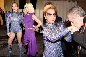 Lady Gaga za kulisami przed występem na Super Bowl (ZDJĘCIA)