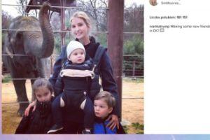 Ivanka Trump z dziećmi i słoniem (FOTO)
