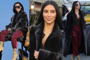 Kim Kardashian w futrze na pustyni (ZDJĘCIA)