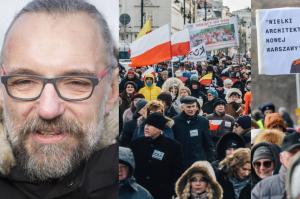 """Tak wyglądał protest KOD-u przeciw zmianom w stolicy. """"Tu WOLNA jest Warszawa"""""""
