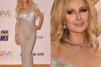 Wykonturowany nos Paris Hilton na ściance...