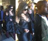 TYLKO U NAS: Kim i Kanye robią zakupy w Londynie w asyście policji! (FOTO)