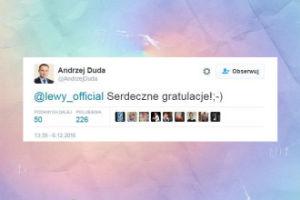 Andrzej Duda składa gratulacje z okazji ciąży Lewandowskiej!