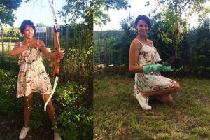 Anna Popek pracuje w ogrodzie (FOTO)